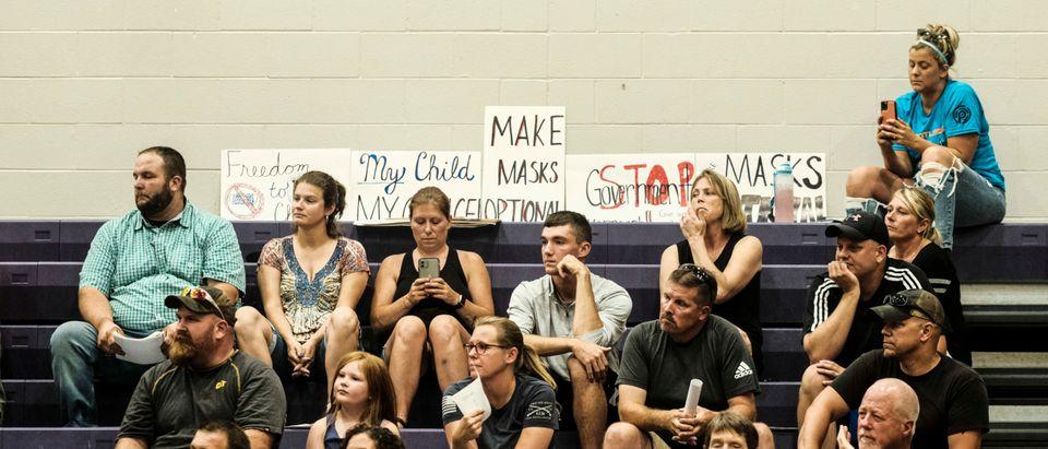 Kalamazoo, Michigan Board Of Education Holds Meeting On Mask Mandates