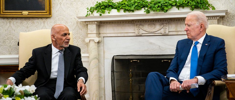 President Biden Meets With Afghan President Ghani In The Oval Office Of The White House