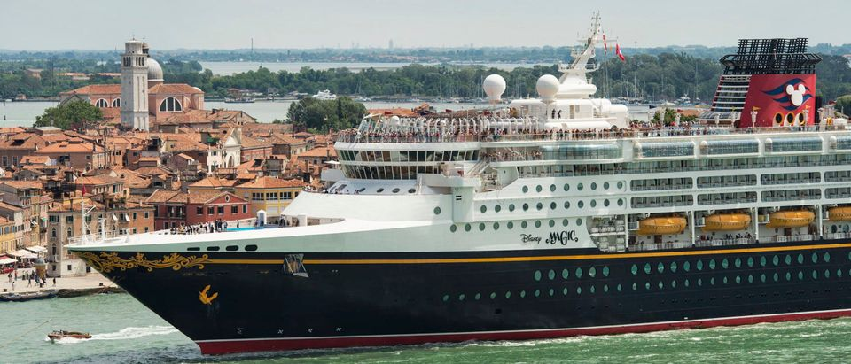 In this handout photo provided by Disney, the Disney Magic cruise ship returns to dock in Venice on July 3, 2013 in Venice, Italy. (Photo by David Roark/Disney via Getty Images)