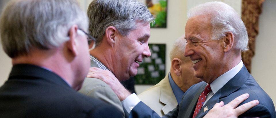 US Vice President Joe Biden greets Rhode