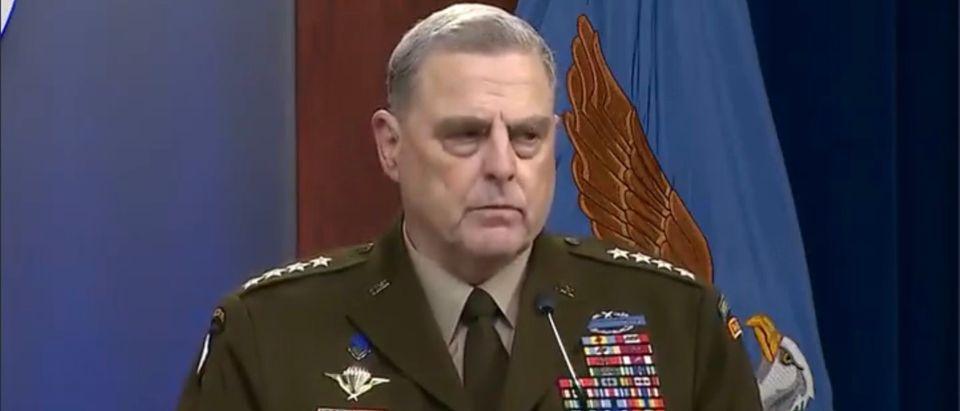 Gen. Mark Milley. (Screenshot/Twitter)
