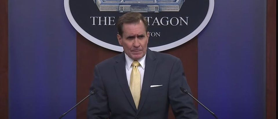 John Kirby speaks at a Monday briefing [Youtube Screenshot PBS News Hour]