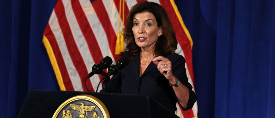 Incoming NY Governor Kathy Hochul Gives First Press Conference After Cuomo's Resignation