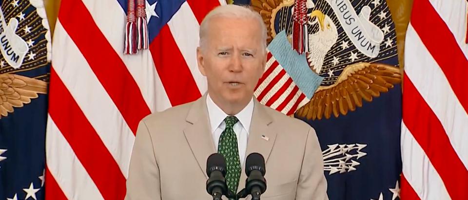 Pres. Joe Biden touted the July jobs report on Friday. (Screenshot YouTube, President Biden Delivers Remarks On The July Jobs Report)
