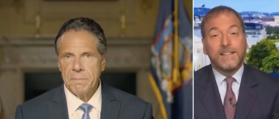 Chuck Todd weighs in on Andrew Cuomo's resignation. Screenshot/MSNBC