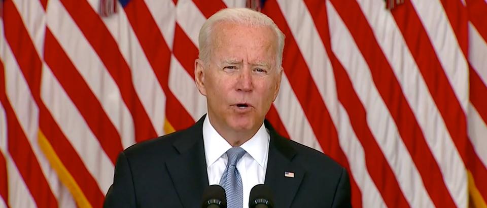 Pres. Biden speaks on Afghanistan. (SCREENSHOT CBSN)