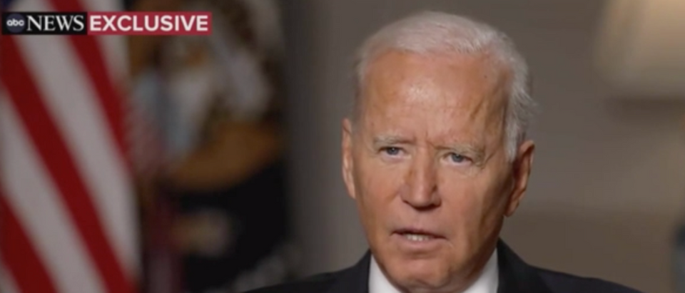 Pres. Joe Biden discussed the fall of Afghanistan in an interview with ABC News. (Screenshot ABC News, Good Morning America)