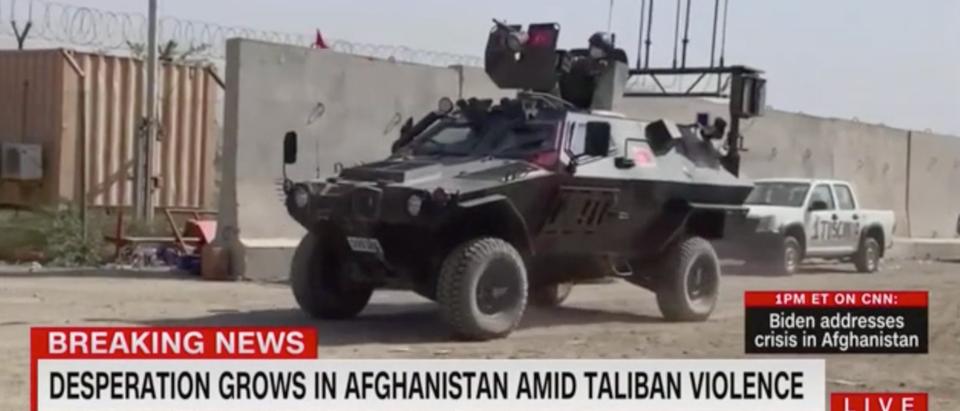 CNN's Clarissa Ward details the chaos at the Kabul Airport. (Screenshot CNN)