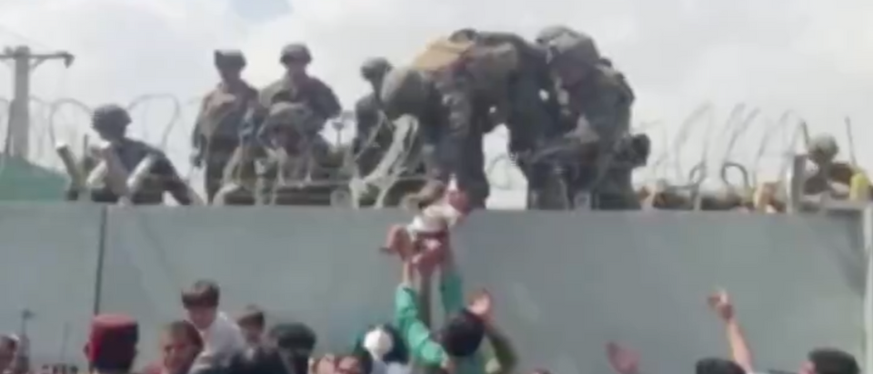 Video, baby, wall, Kabul, Afghanistan