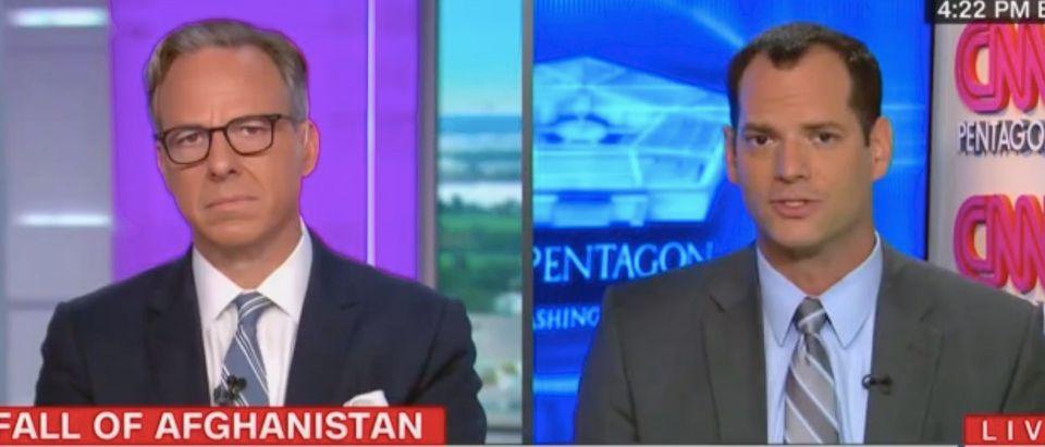 Jake Tapper speaks with Oren Lieberman. Screenshot/CNN