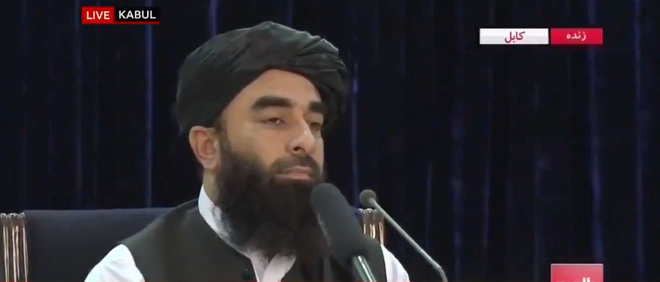 A Taliban spokesman said the group still isn't agreeing to allowing the U.S. an extension on withdrawing from Afghanistan. (Screenshot Twitter: @BBCBreaking, https://twitter.com/BBCBreaking/status/1430164124672135182)
