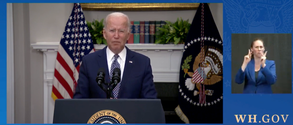 Pres. Biden said the US is keeping its Aug. 31 withdrawal date for Afghanistan. (Screenshot The White House)