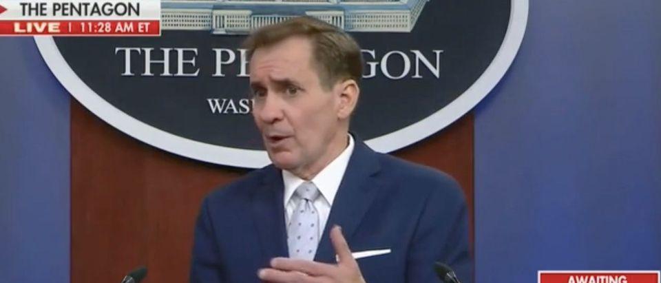 Pentagon press briefing. Screenshot/Fox News