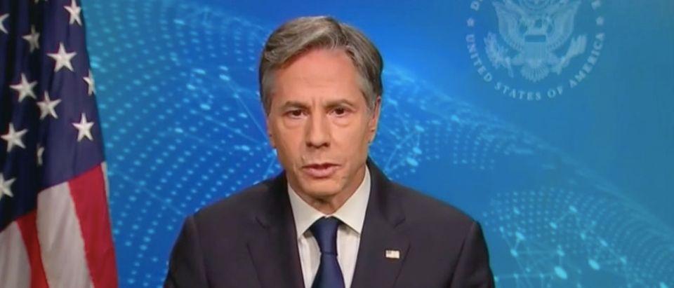 "Antony Blinken appears on ""Meet the Press."" Screenshot/NBC"