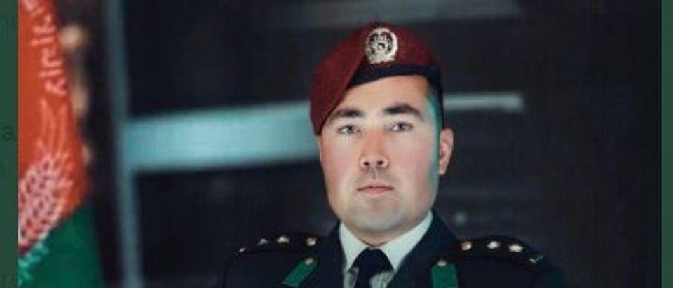 Major Naqib Mirzada Of The Afghan National Army