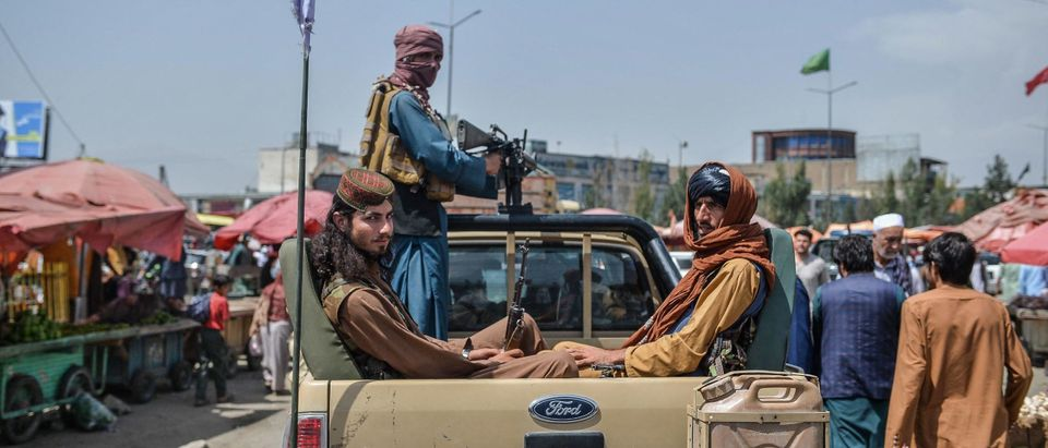 Taliban Fighters Truck Getty