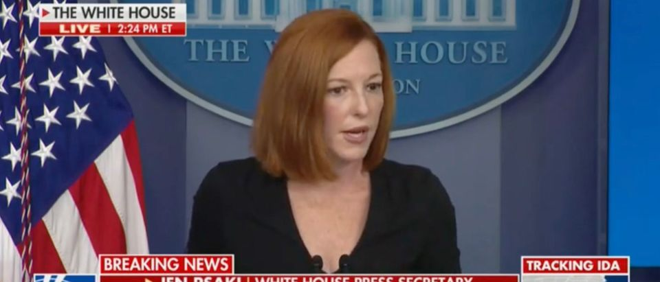 WH Press Sec. Jen Psaki speaks about Afghanistan [Screenshot:Fox News]