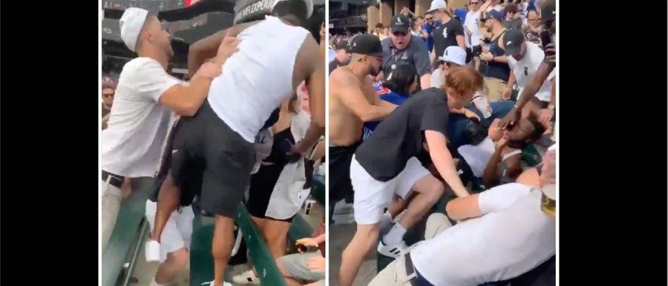 White Sox, Cubs Brawl (Credit: Screenshot/Twitter Video https://twitter.com/SportsLawLust/status/1432104146883301377)