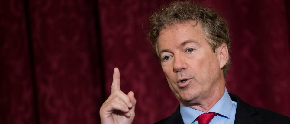 Rand Paul Holds Press Conference On Trump's Executive Order On Health Care