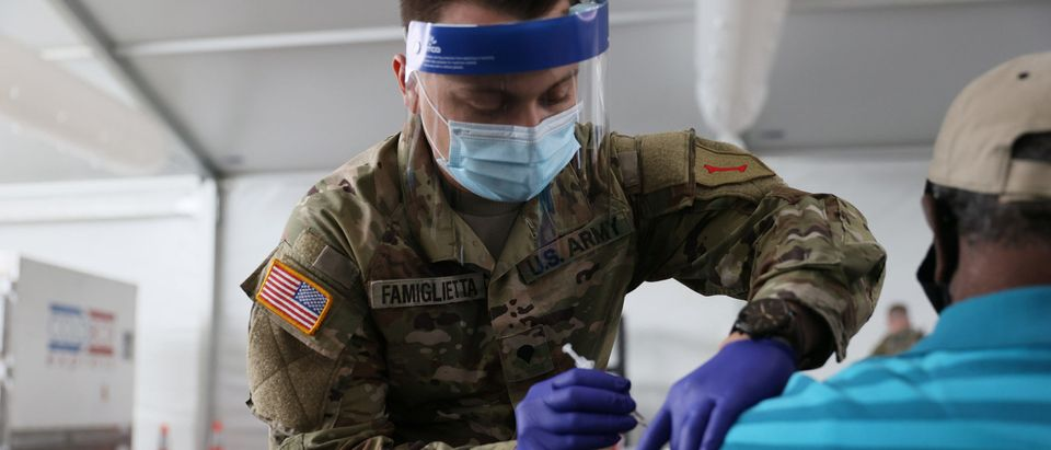Floridians Get COVID-19 Vaccine At FEMA Vaccination Site In Miami Area
