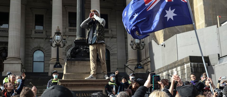 "Australian Anti-Lockdown Activists Gather For ""Freedom Rally"""