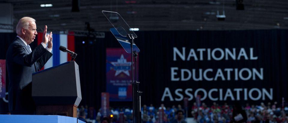 Biden Speaking At NEA Getty