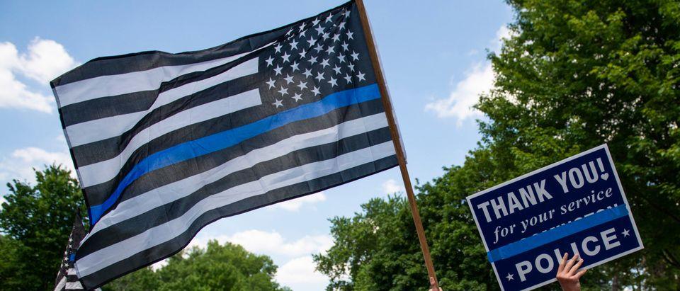Blue Line Flag Getty