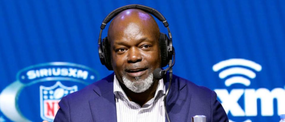 MIAMI, FLORIDA - JANUARY 30: Former NFL player Emmitt Smith speaks onstage during day 2 of SiriusXM at Super Bowl LIV on January 30, 2020 in Miami, Florida. (Photo by Cindy Ord/Getty Images for SiriusXM )