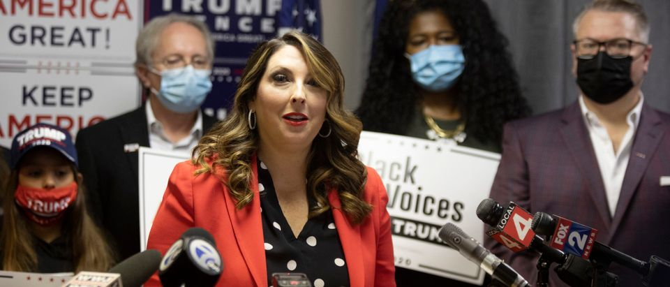 RNC Chairwoman McDaniel Holds News Conference In Michigan On State's Election Integrity