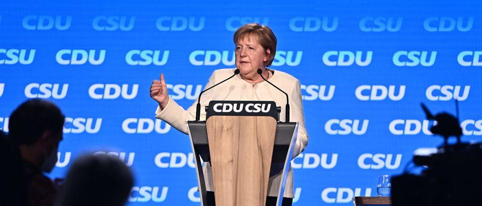 Christian Democrats (CDU/CSU) Hold Closing Rally Ahead Of Parliamentary Elections