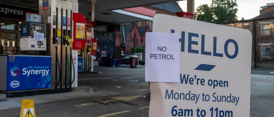 Queues And Closures At British Petrol Stations Amid Haulier Shortage
