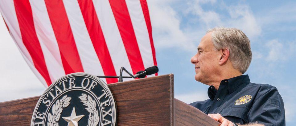 Former President Trump Joins TX Gov. Abbott At Unfinished Border Wall