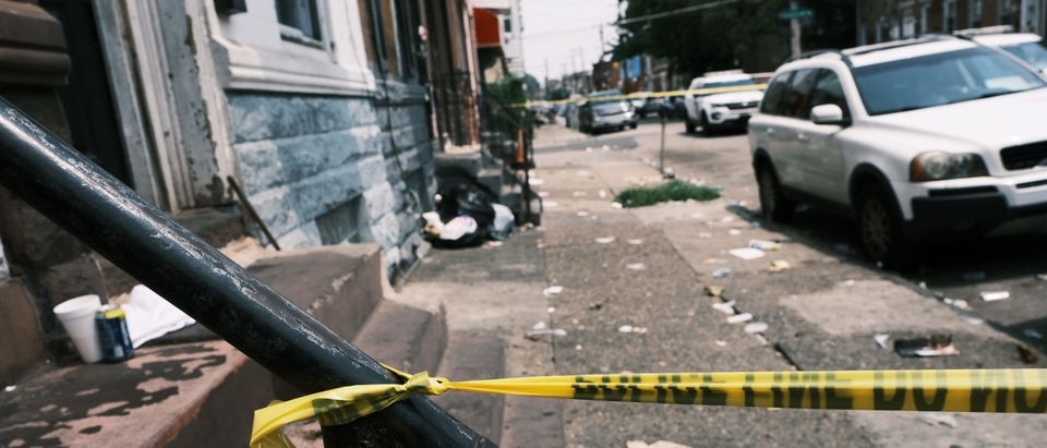 Philadelphia Property Taped Off Following Shooting Incident