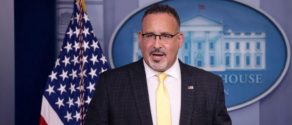 Education Secretary Cardona Joins Press Secretary Psaki For Daily White House Briefing