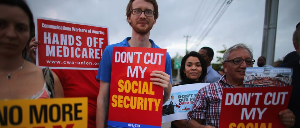 Labor Activists Rally At Rubio's Office To Avert Fiscal Cliff