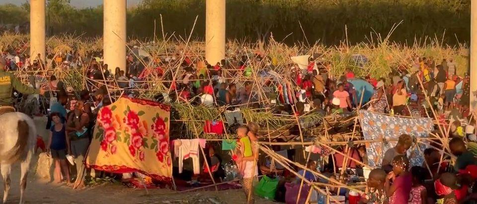 Mostly Haitian Migrants Camp Under Del Rio International Bridge