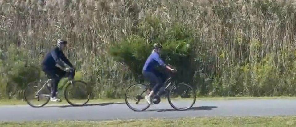 Biden Bikes Near Rehoboth Beach, Delaware