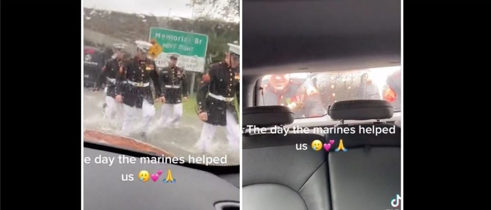 Marines (Credit: Screenshot/Twitter Video https://twitter.com/jimlaporta/status/1439129952276860928)