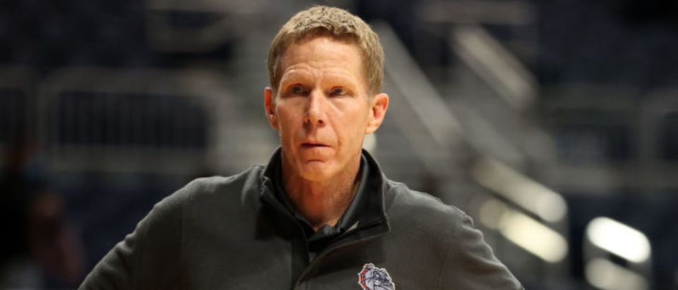 INDIANAPOLIS, INDIANA - MARCH 22: Head coach Mark Few of the Gonzaga Bulldogs looks on against the Oklahoma Sooners in the second round game of the 2021 NCAA Men's Basketball Tournament at Hinkle Fieldhouse on March 22, 2021 in Indianapolis, Indiana. (Photo by Andy Lyons/Getty Images)