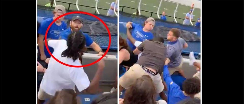 Memphis Fooball Fight (Credit: Screenshot/Twitter Video https://twitter.com/barstoolsports/status/1434567029143621634)