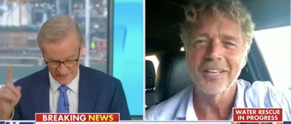 Steve Doocy speaks with actor John Schneider. Screenshot/Fox News