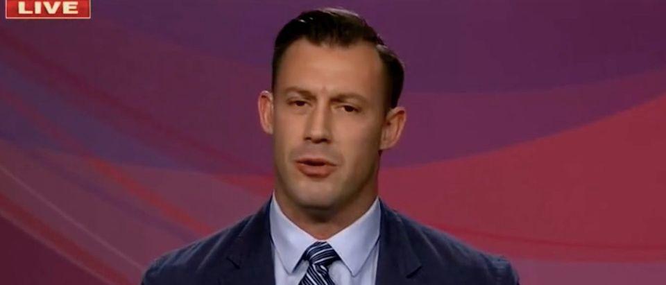 "Joey Jones appears on ""Outnumbered."" Screenshot/Fox News"