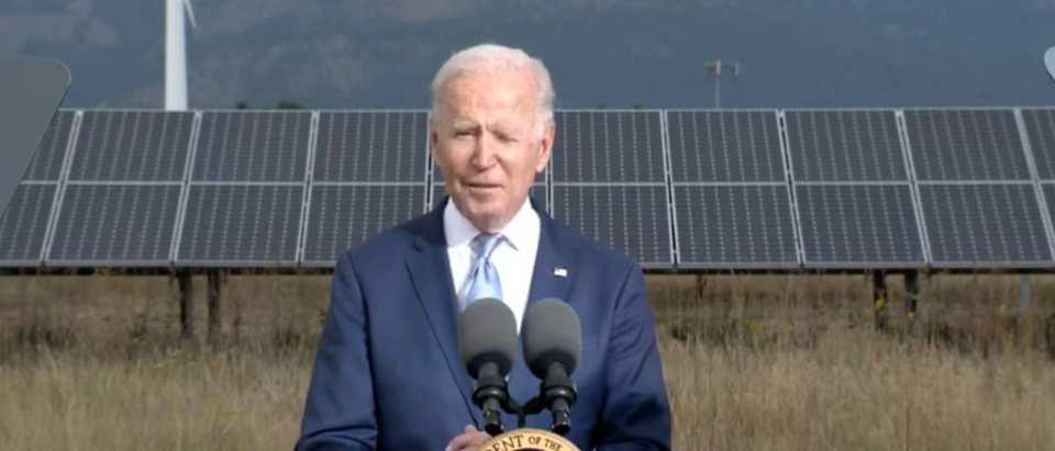 Pres. Biden spoke about climate change on Tuesday. (Screenshot YouTube, The White House)