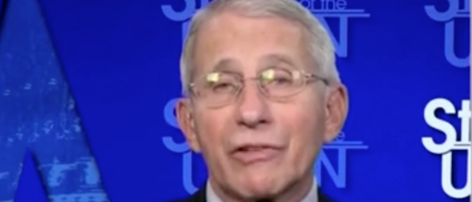 Dr. Anthony Fauci said he now doesn't think it's a mistake for the FDA not to approve boosters for Americans. (Screenshot CNN)