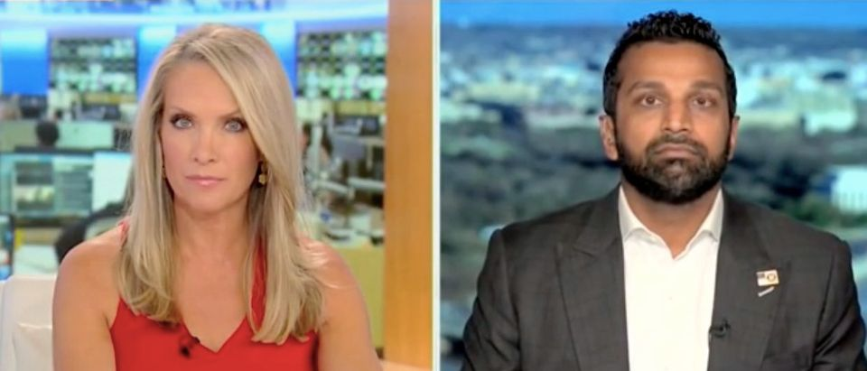 "Dana Perino and Kash Patel appear on ""America's Newsroom."" Screenshot/Fox News"