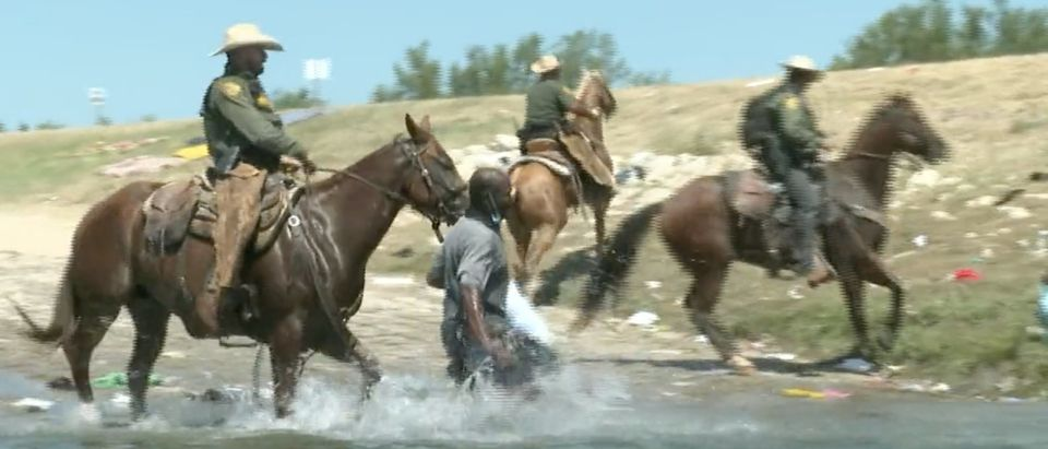 Sorting through my footage from the border. I was in the river during the viral incident between a Haitian migrant and mounted CBP agent. It's shaky - but here's what I captured.