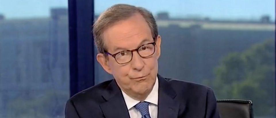 "Chris Wallace appears on ""Fox News Sunday."" Screenshot/FOX"