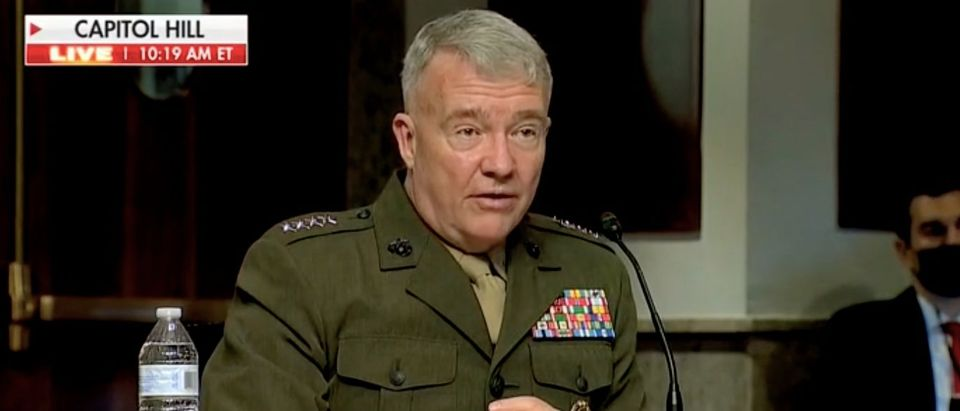 Gen. Kenneth McKenzie appears before the Senate Armed Services Committee. Screenshot/Fox News