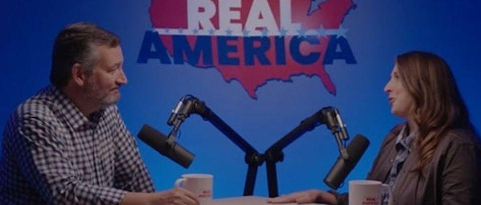 Screen Shot:Ted Cruz:Ronna McDaniel:Daily Caller Obtained:Youtube