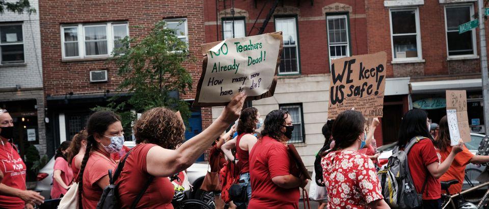 Teachers Union Protest Getty